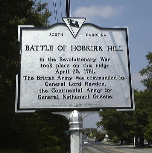 Historical Marker for Hobkirk's Hill Battle