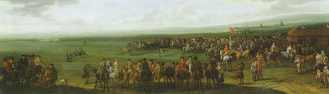 """Newmarket Prior to the Start of the """"King's Plate"""" Race"""