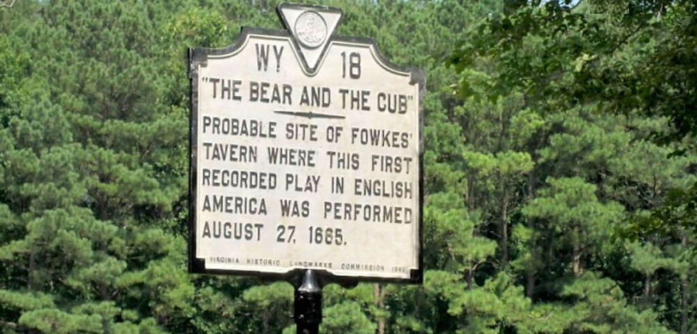 Historical Marker for First Play in English America