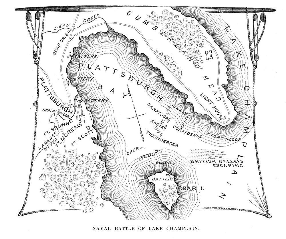 Map of Naval Battle at Plattsburgh