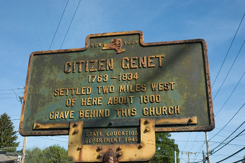 NYS Historical Marker for Genet's Home and Grave