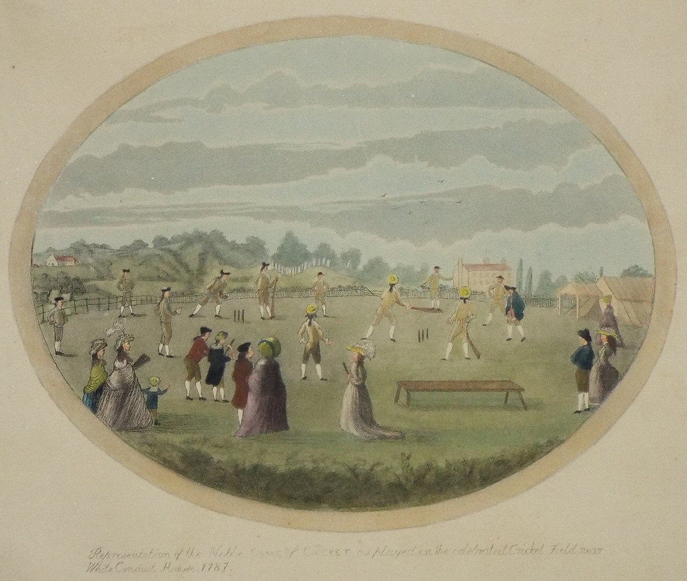 1787 Cricket Match Using Two Wickets