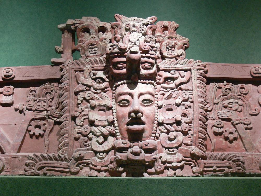 Mayan Carving of the God Hurakán