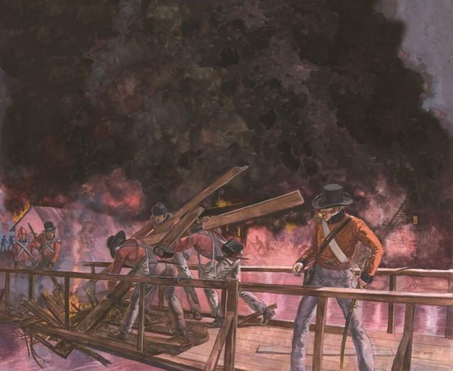 Destruction of Principio Iron Works