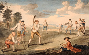 18th Century Cricket Match Using Only One Wicket