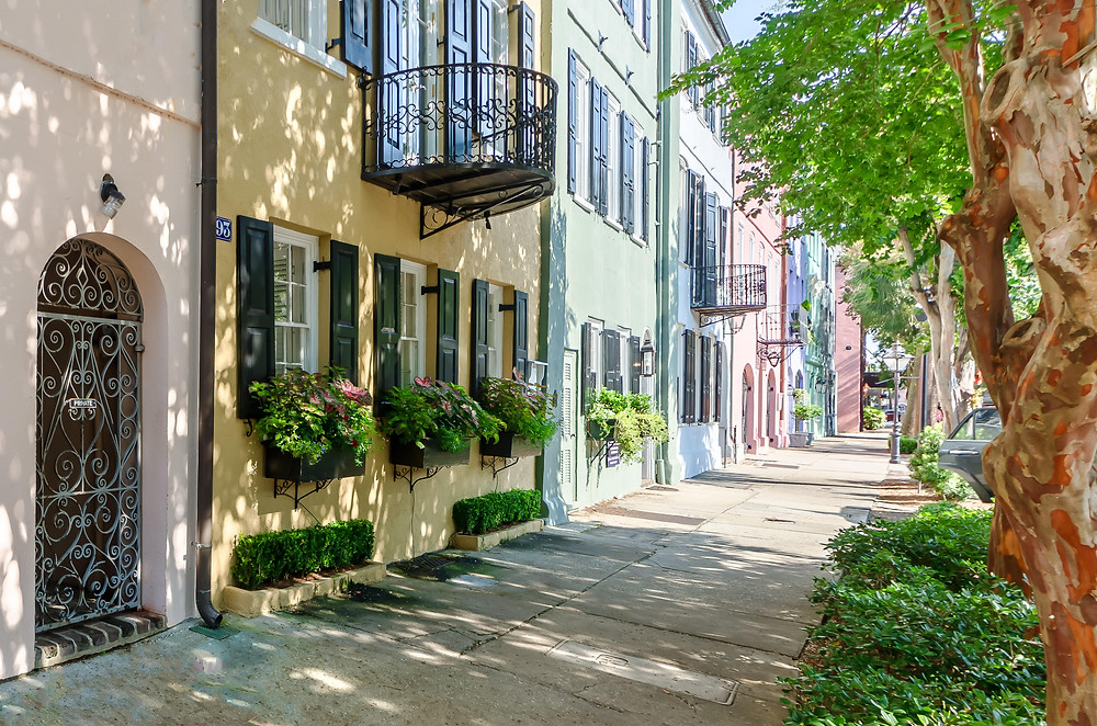 View of East Bay Street, Charleston, Today