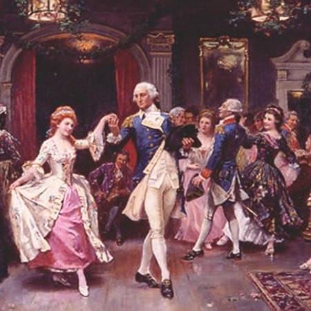 General Washington and his officers dancing at a Ball