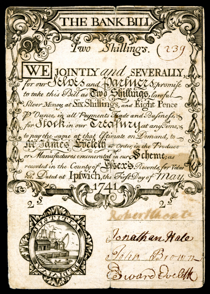 Land Bank Currency - Two Shillings