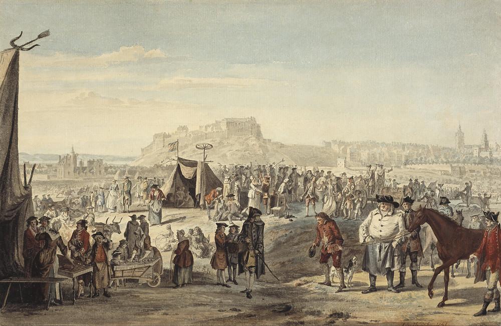 18th Century Horse Sale - Paul Sandby