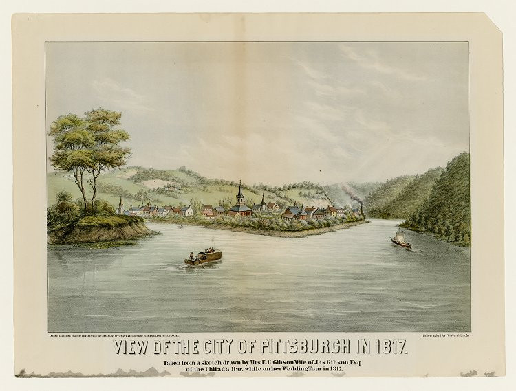 View of the City of Pittsburgh in 1817