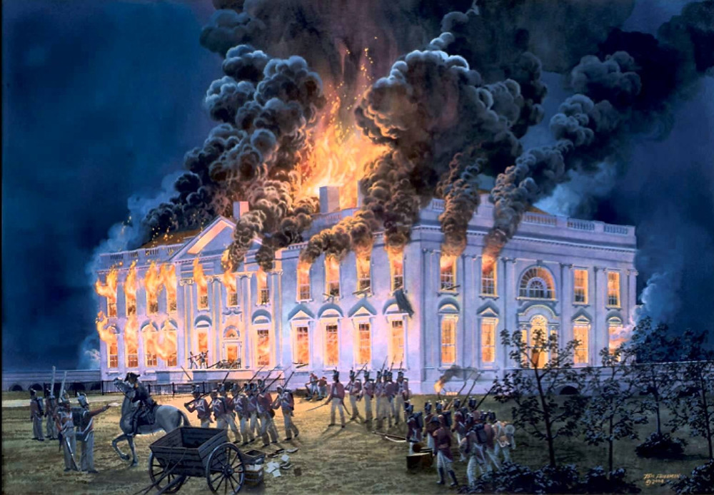 The White House in Flames