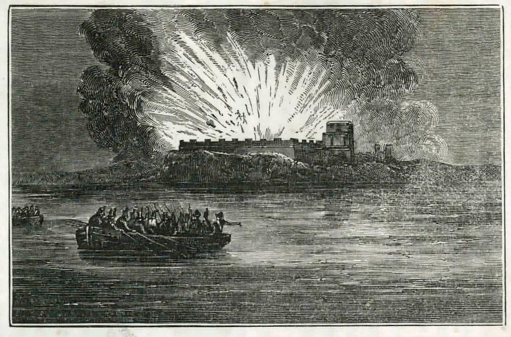 Blowing up Fort San Carlos de Barrancas