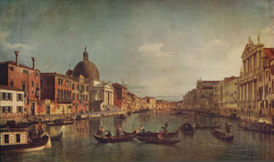 18th Century View of the Grand Canal in Venice