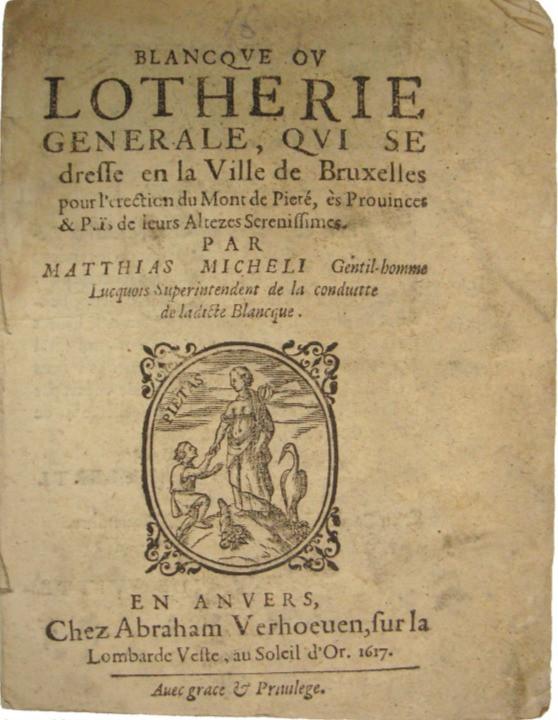 Belgian Lottery Booklet - 1617