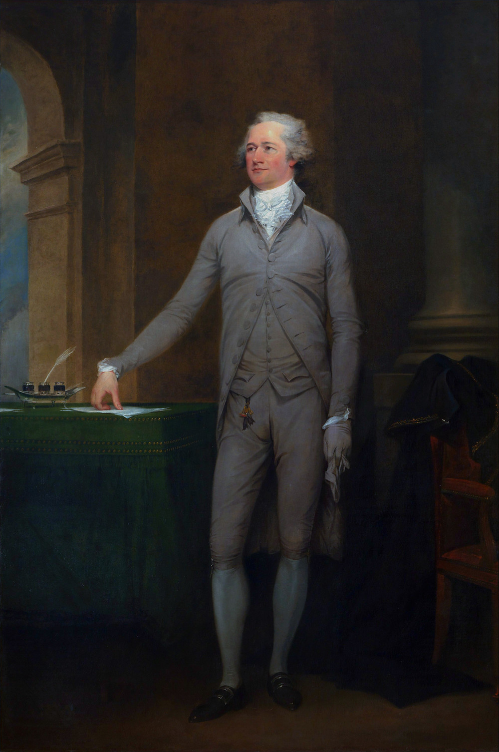 John Trumbull Painting of Alexander Hamilton