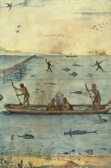 Fishing Techniques of the Virginia Indians