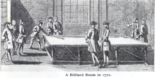 A billiard room in 1770