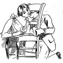 A drawing of Le Baiser À La Religieuse