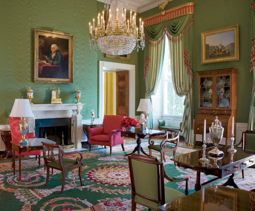 """Green Room"" at the White House"