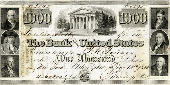 Banknote from 2nd Bank of the United States