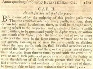 English Poor Law of 1601