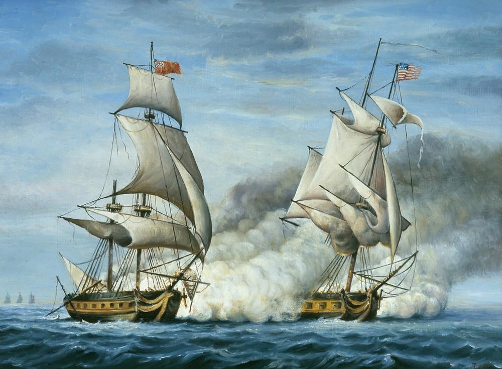 USS Peacock vs HMS Epervier