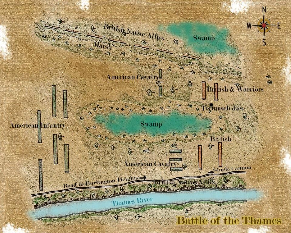 Map of the Battle of the Thames