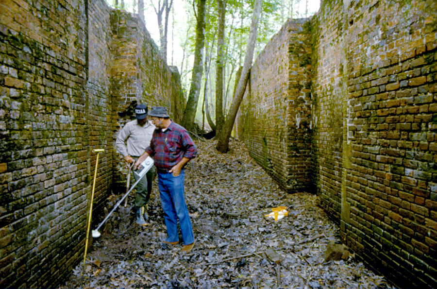 Archeologists Working on A Section of the Santee Canal