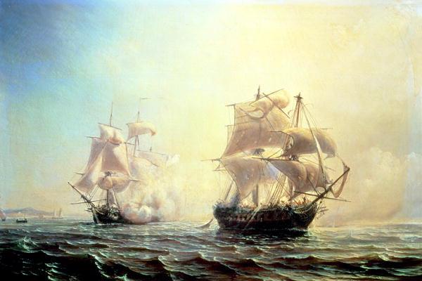 The Embuscade vs. HMS Boston