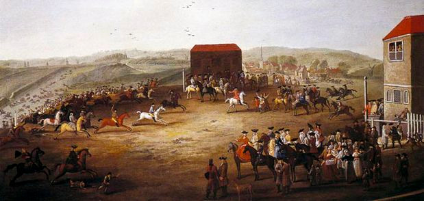 """Finish of a """"Long Course"""" Race at Newmarket - J Ross"""