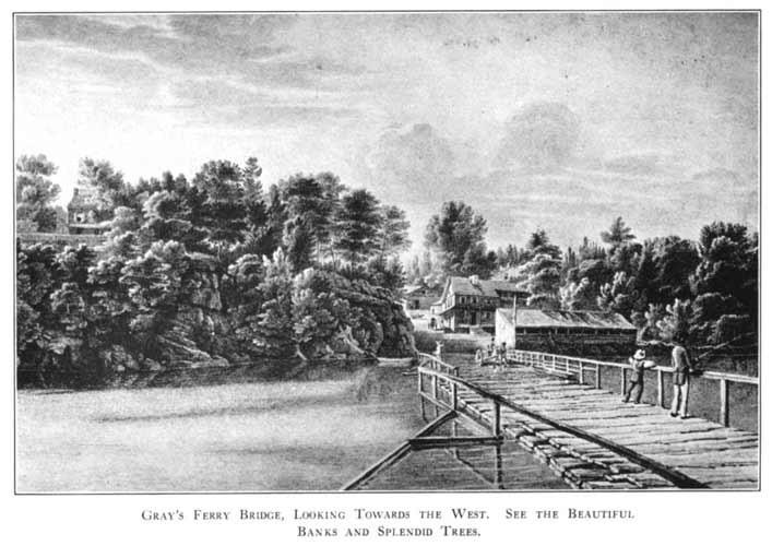 Gray's Ferry Bridge. Garden on Right Across Bridge