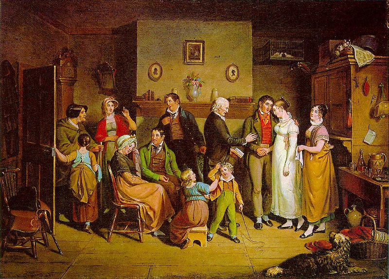Country Wedding by John Lewis Krimmel, 1820