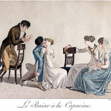 A drawing of Le Baiser À La Capucine