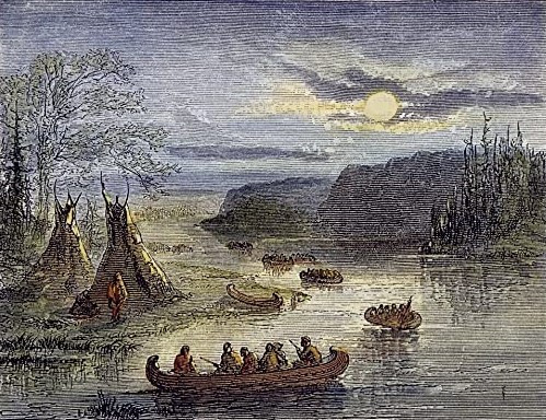 The Burr Expedition Heading Down the Ohio River