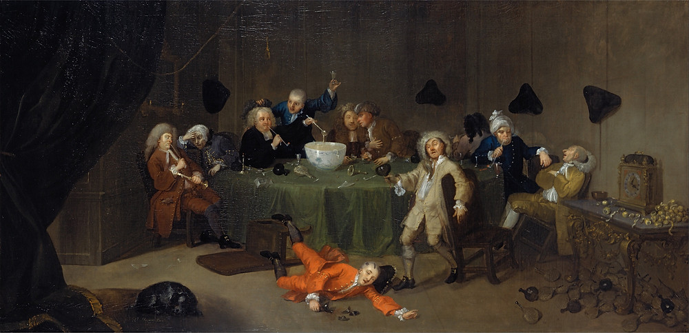 "William Hogarth's ""A Midnight Conversation"""