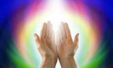 Hands reaching out to embrace Divine wisdom
