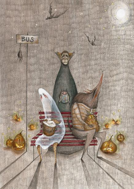 Hallo-bus e caramelle