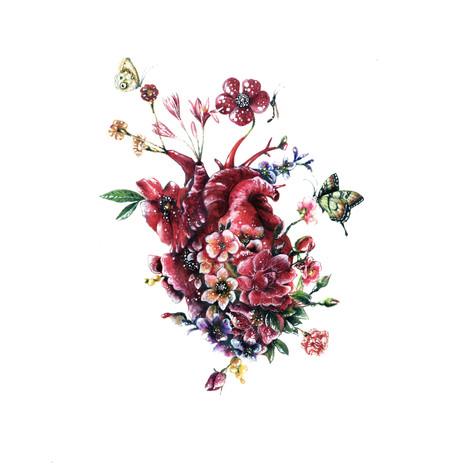 Cuore in fiore
