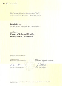 MSc in Angewandte Psychologie - FHNW