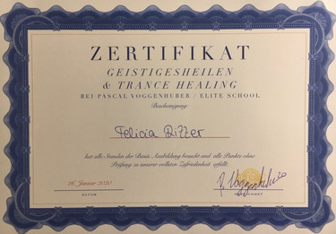 Zertifikat Geistigesheilen & Trance Heal