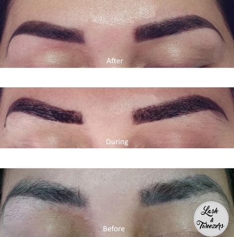 Henna Eyebrow Sculpt With Eyebrow Tattoo Effect Lash Tweezers