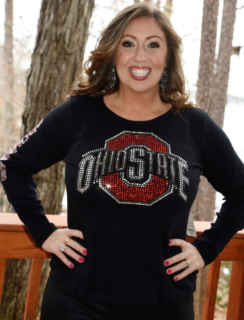 fa1589a7 Ohio State Rhinestone Bling Shirt