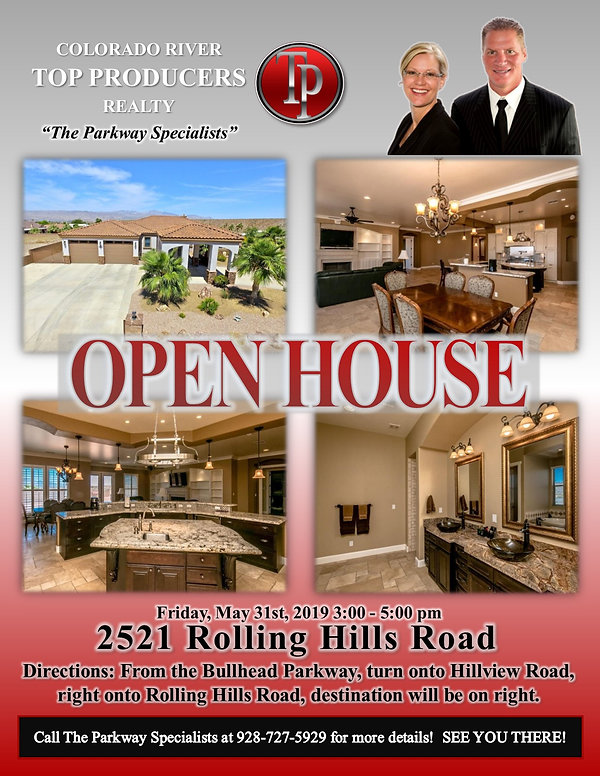 2521 Rolling Hills Road Open House Flyer