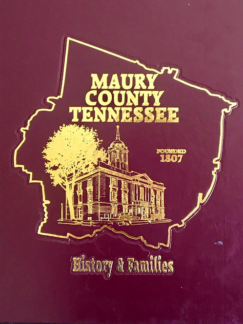 Maury County Tennessee History and Families
