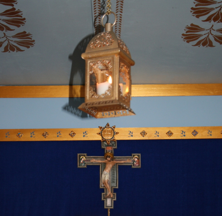 Our sanctuary lamp.