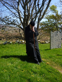 Fr Michael on the Isle of Mull