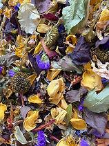 real dried petal confetti