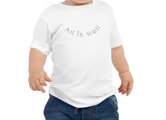 ALL IS WELL SMILEY BABY TEE