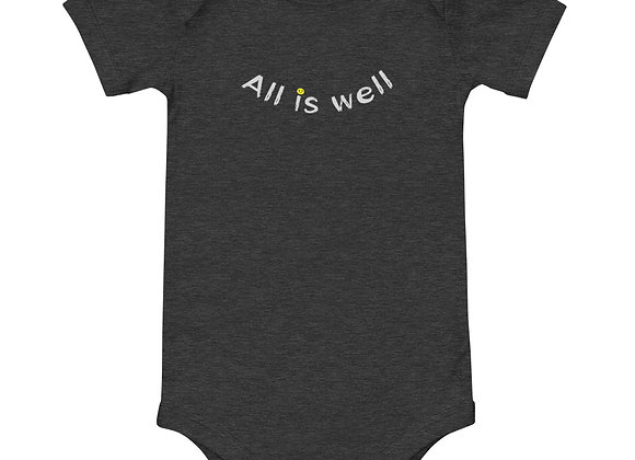 ALL IS WELL SMILEY BABY ONE PIECE