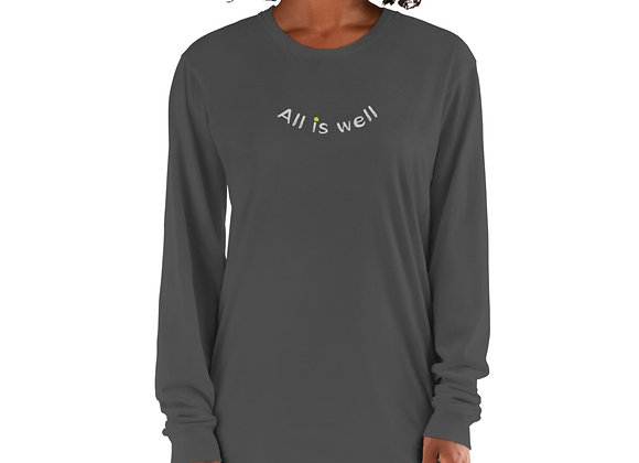 ALL IS WELL SMILEY UNISEX LONG SLEEVE